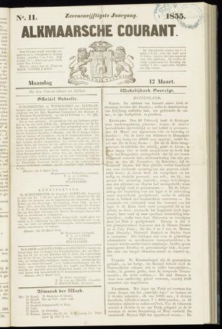 Alkmaarsche Courant 1855-03-12