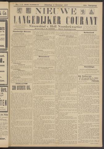 Nieuwe Langedijker Courant 1927-10-11
