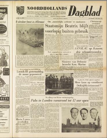 Noordhollands Dagblad : dagblad voor Alkmaar en omgeving 1959-10-08