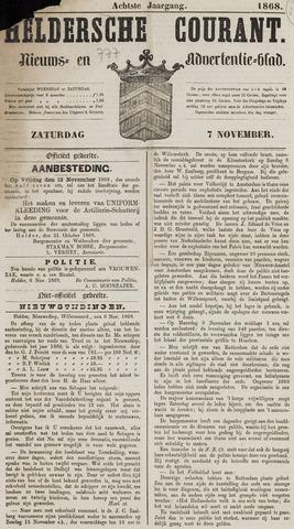 Heldersche Courant 1868-11-07