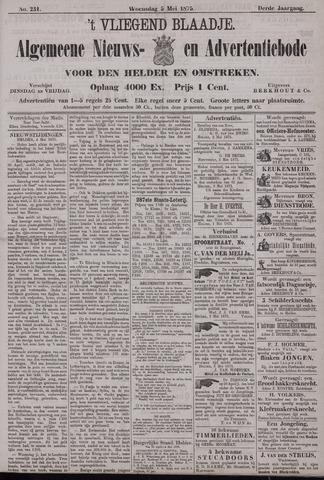 Vliegend blaadje : nieuws- en advertentiebode voor Den Helder 1875-05-05