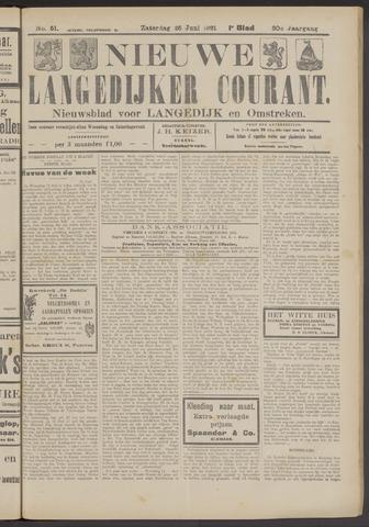 Nieuwe Langedijker Courant 1921-06-25