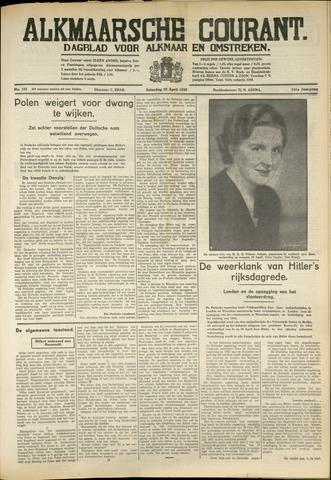 Alkmaarsche Courant 1939-04-29