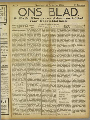 Ons Blad : katholiek nieuwsblad voor N-H 1908-09-30