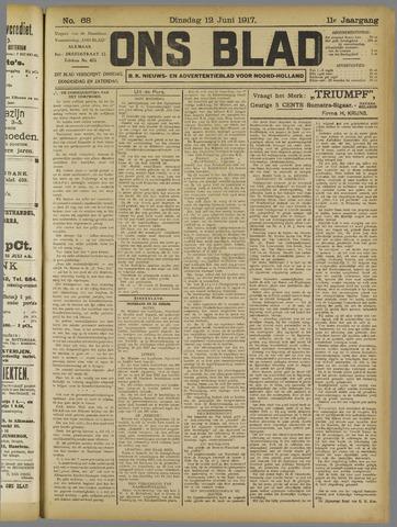 Ons Blad : katholiek nieuwsblad voor N-H 1917-06-12