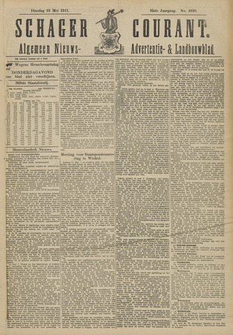 Schager Courant 1911-05-23