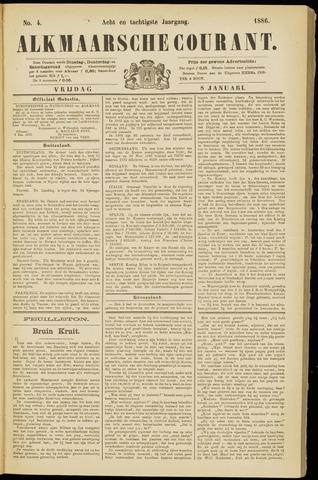 Alkmaarsche Courant 1886-01-08