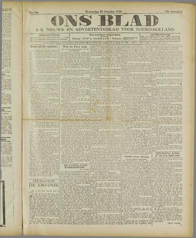 Ons Blad : katholiek nieuwsblad voor N-H 1920-10-20