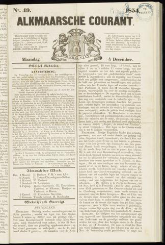 Alkmaarsche Courant 1854-12-04