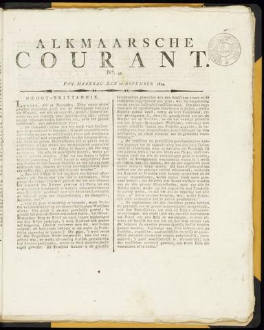Alkmaarsche Courant 1814-11-21