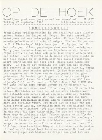Op De Hoek, weekblad voor Akersloot 1962-09-21