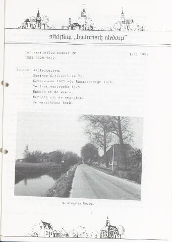 Informatieblad stichting Historisch Niedorp 1993-06-01