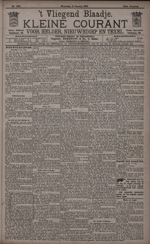 Vliegend blaadje : nieuws- en advertentiebode voor Den Helder 1894-01-10