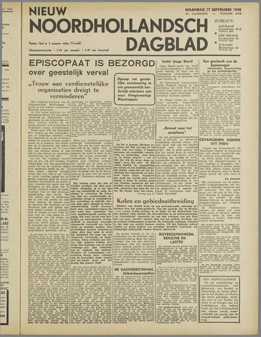 Nieuw Noordhollandsch Dagblad : voor Alkmaar en omgeving 1945-09-17