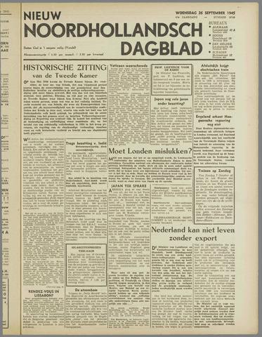 Nieuw Noordhollandsch Dagblad : voor Alkmaar en omgeving 1945-09-26