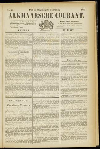 Alkmaarsche Courant 1893-03-10