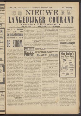 Nieuwe Langedijker Courant 1928-11-27