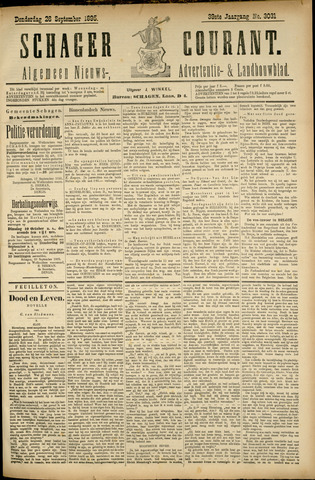 Schager Courant 1895-09-26