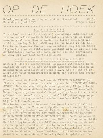 Op De Hoek, weekblad voor Akersloot 1955-06-04