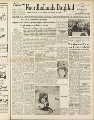 Nieuw Noordhollandsch Dagblad : voor Alkmaar en omgeving 1949-02-25