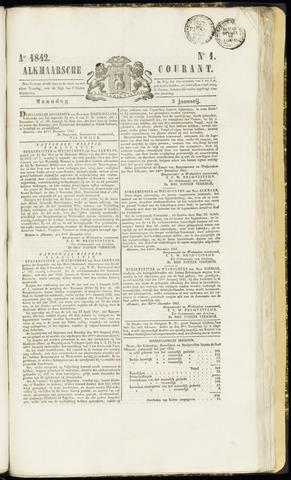 Alkmaarsche Courant 1842-01-03