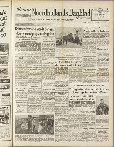 Nieuw Noordhollandsch Dagblad : voor Alkmaar en omgeving 1951-02-13