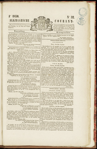 Alkmaarsche Courant 1850-08-12