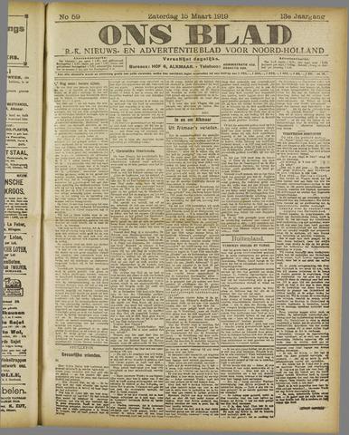 Ons Blad : katholiek nieuwsblad voor N-H 1919-03-15