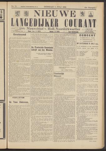 Nieuwe Langedijker Courant 1932-07-05