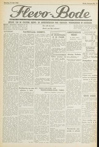 Flevo-bode: nieuwsblad voor Wieringen-Wieringermeer 1948-07-24