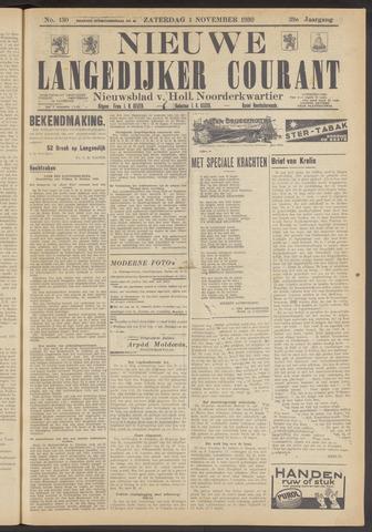 Nieuwe Langedijker Courant 1930-11-01