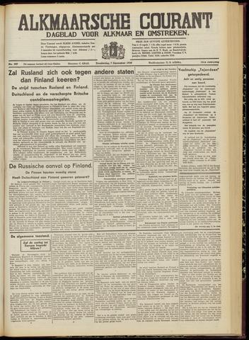 Alkmaarsche Courant 1939-12-07