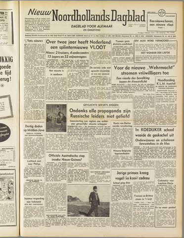 Nieuw Noordhollandsch Dagblad : voor Alkmaar en omgeving 1952-02-01