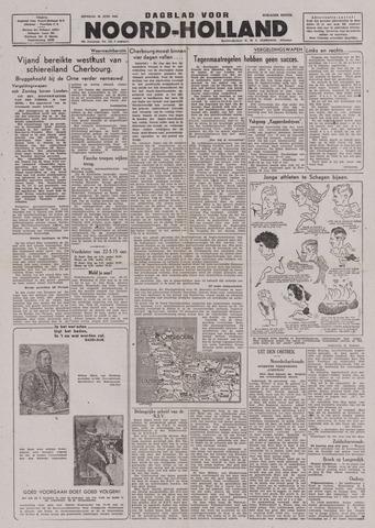 Dagblad Noord-Holland, Schager editie 1944-06-20