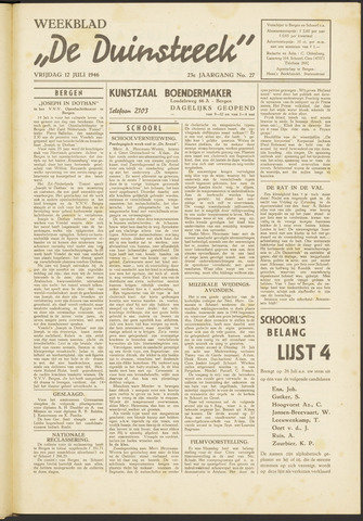 De Duinstreek 1946-07-12