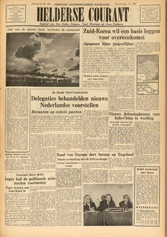 Heldersche Courant 1954-05-22