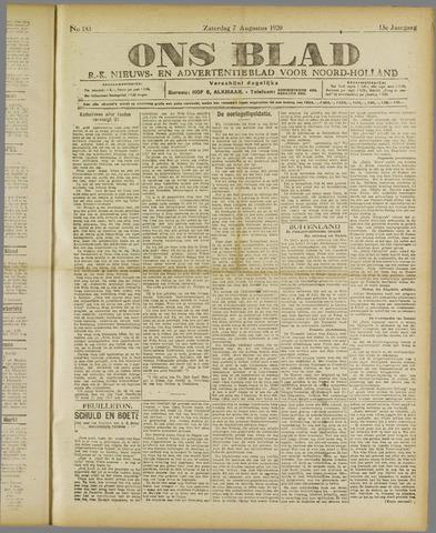 Ons Blad : katholiek nieuwsblad voor N-H 1920-08-07