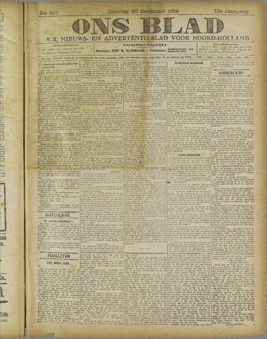 Ons Blad : katholiek nieuwsblad voor N-H 1919-12-30