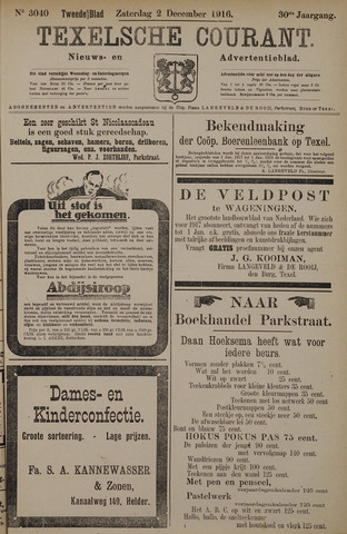 Texelsche Courant 1916-12-02