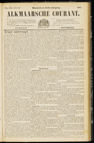 Alkmaarsche Courant 1901-09-01