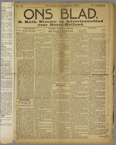 Ons Blad : katholiek nieuwsblad voor N-H 1908-08-19
