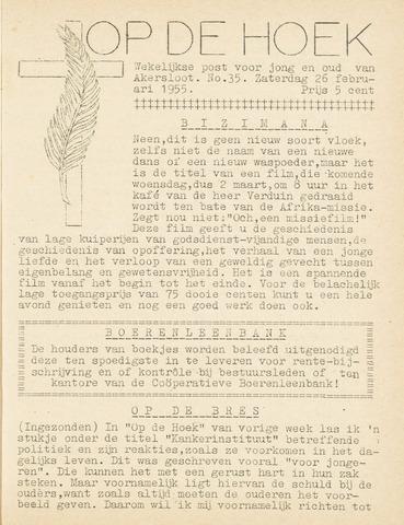 Op De Hoek, weekblad voor Akersloot 1955-02-26