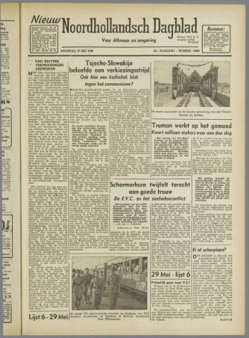 Nieuw Noordhollandsch Dagblad : voor Alkmaar en omgeving 1946-05-27