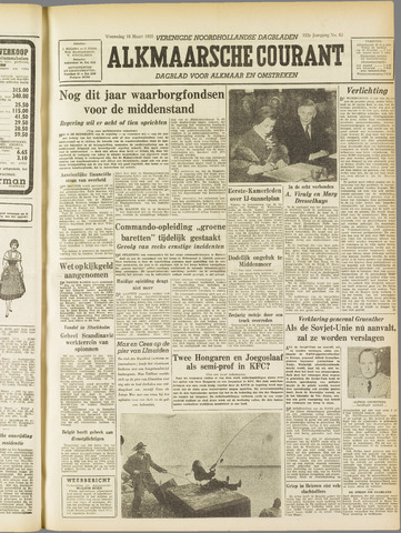 Alkmaarsche Courant 1955-03-16