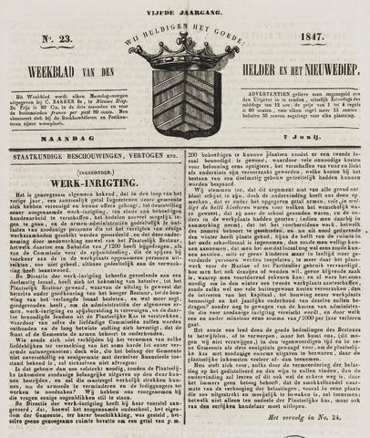 Weekblad van Den Helder en het Nieuwediep 1847-06-07