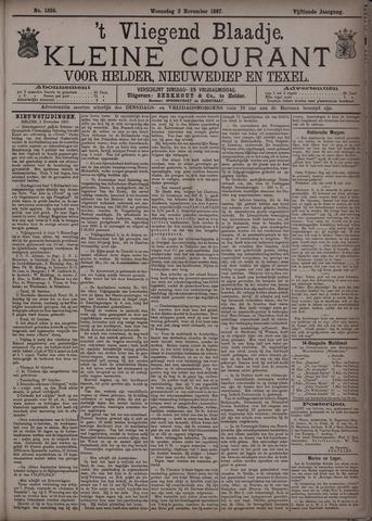 Vliegend blaadje : nieuws- en advertentiebode voor Den Helder 1887-11-02