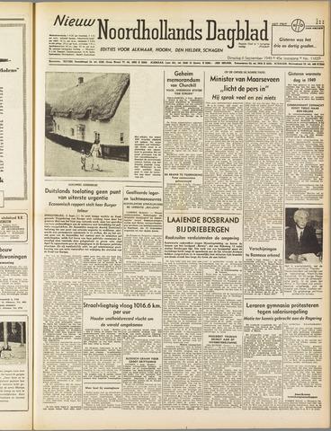 Nieuw Noordhollandsch Dagblad : voor Alkmaar en omgeving 1949-09-06