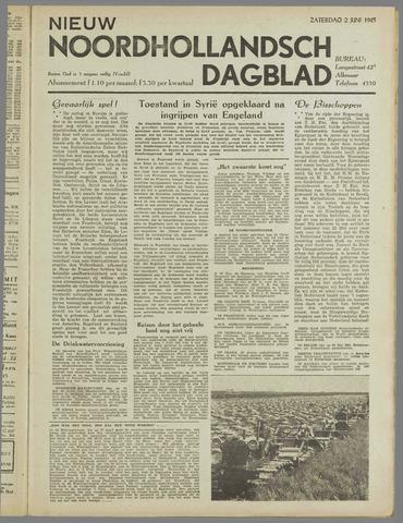 Nieuw Noordhollandsch Dagblad : voor Alkmaar en omgeving 1945-06-02