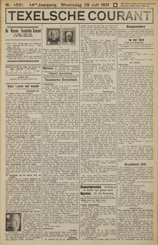 Texelsche Courant 1931-07-29