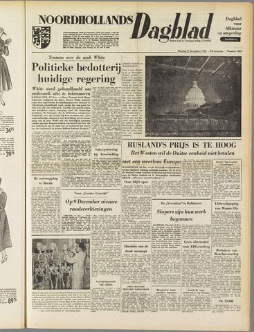 Noordhollands Dagblad : dagblad voor Alkmaar en omgeving 1953-11-17